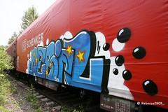 DEBIL (rebecca2909) Tags: graffiti graff deutschebahn db plane cargo güter freighttrain fr8 freight debil