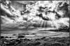 Poipu, Kauai. (drpeterrath) Tags: canon eos5dsr 5dsr bw blackwhite nature landscape seasccape waves ocean paccific kauai hawaii sheraton marriott koekea sunlight clouds sky beams