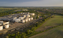 60001 at Kingsbury (robmcrorie) Tags: 60001 kingsbury oil depot 6m00 humber tanks unloading warwickshire train rail railway railfan phantom 4