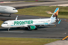 N713FR (Hector A Rivera Valentin) Tags: frontier airlines airbus a321211 serial 7286 year 2016 airport tjsj sju puerto rico