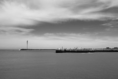 UnderContructionBW (Jo Tsep) Tags: oostende ostende ostend belgique belgium see port nikon d800 nikkor sky bw sea seascape 2470 f28