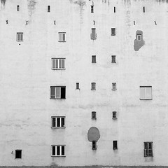 a short story about people's activity (ignacy50.pl) Tags: architecture building streetview window urbanexploration urbex phonephotography warsaw poland reportage documentary blackandwhite wall minimal