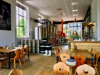 Microbrewery with restaurant in Oberaudorf, Bavaria, Germany