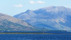 Sallachan Point, with the Pap of Glencoe and Sgorr nam Fiannaidh lurking beyond Ballachulish Bridge (sheumais63) Tags: sallachan glencoe loch linnhe ballachulish scotland