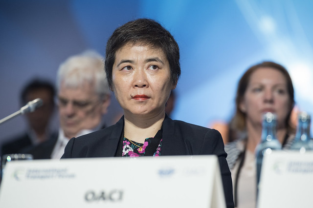 Fang Liu attending the Open Ministerial Session