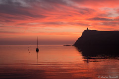 19 Match (2) Made in Heaven (manxmaid2000) Tags: sunset red colour sky sea yacht reflection harbour porterin isleofman braddahead water dusk ocean uk bay boat sailing clouds waves fire fiery bradda tower manx magical evening seaside holiday coast coastal silhouette