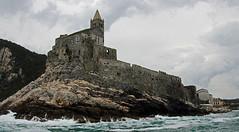 castle on point, Porto Venere (scott1346) Tags: castle rocks ruins ancient portovenere italy 1001nights 1001nightsmagiccity canont3i thegalaxy