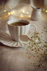 Tea time (nuriapase) Tags: aliments bodegons light tea cup time stilllife flower creative art edition food drink
