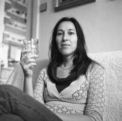 fuji006 (zdenekdosah) Tags: minolta autocord portrait women black white film photography across tlr