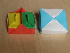 Diagonal tray (Mélisande*) Tags: mélisande origami box tray