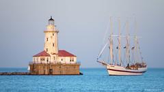 Chicago Harbor Lighthouse & Windy (dpsager) Tags: chicago chicagoharborlighthouse dpsagerphotography illinois lakemichigan metabones tallships windy