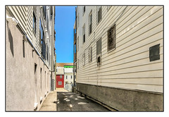 The Space Between (Timothy Valentine) Tags: alleyway 0618 buildings large sky 2018 southie boston massachusetts unitedstates us