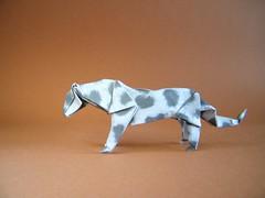Snow Leopard - Tong Liu (Rui.Roda) Tags: origami papiroflexia papierfalten snow leopard tong liu
