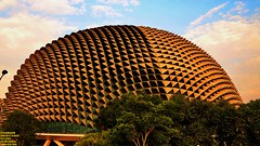 ..golden durian.. (Ferry Octavian) Tags: canon eos 750d rebel t6i dslr landscape street shot travel trip outdoor noflash handheld explore color colour efs 1855 stm metro metropolis city cityscape modern building skyscraper tower architecture design structure exterior icon landmark theatre art perfomance center esplanade sunset sun sky skyline horizon orange golden hour beautiful cloud cloudy wide singapore southeast asia sea capital marina marinabay water waterfront bay bayfront roof iconic