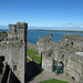 Caernarfon Castle - Black Tower - view of Chamberlain Tower and King's Gate
