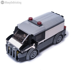 Bank Money Transporter (KEEP_ON_BRICKING) Tags: lego city car bank money transporter vehicle keeponbricking moc legocity town minifigure ride driver security
