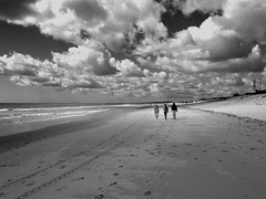 Beach (JuniekFoto) Tags: duinen dunes lopen walking mensen people zee sea strand beach