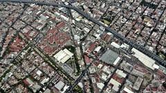 Las calles (Robert Saucier) Tags: mexico mexicocity cdmx vudenhaut plongée img7577 rue street oblique building architecture maisons houses