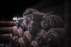 Von der Rolle (Blacklight Fotografie) Tags: kokerei ersatzteil lagerhaltung old alt rusty rostig ruhrgebiet ruhrpott nrw deutschland germany industrie industry