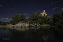 Ermita de Nuestra Señora del Carmen (Luis R.C.) Tags: ermitas nocturnas paisajes edificios agua startrails ci