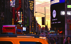 new york sunset (poludziber1) Tags: street streetphotography skyline summer sky ny nyc newyork manhattan urban travel orange