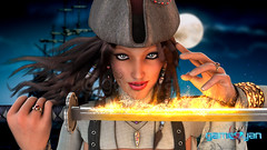 Angela Fantasy Pirates Character Model by Gameyan Game Art Design Companies - California, USA (GameYanStudio) Tags: character charactermodeling characteranimation characterdesign characteranimationstudio 3dcharacterdesigner 3d animation studio outsourcing rendering