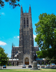 Duke Chapel (Shawn Blanchard) Tags: duke chapel university durham campus nc northcarolina architecture america building blue green clouds color city church college stone historic