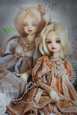 Falling Sun & Dusty Moon (AyuAna) Tags: bjd ball jointed doll dollfie ayuana design minidesign handmade ooak clothing clothes dress set outfit gown robe vetement historical fantasy victorian style fashion couture sewing sewingfordolls slim msd mnf minifee fairyland size dim benetia hybrid