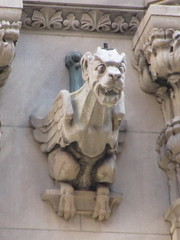 Street Level Gargoyle Old NY Times Building NYC 3971 (Brechtbug) Tags: gargoyle former new york times building square 2018 city tower architecture midtown manhattan 06182018 newspaper gothic news paper towers urban now yahoo headquarters internet business search engine computer company june spring summer art buildings old street level ny nyc
