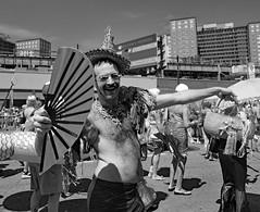 Fan Guy Coney Island Mermaid Parade. (Explored) (Don Mosher Photography) Tags: winner