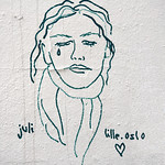 Drawing on wall by Lille.oslo [Lyon, France] thumbnail