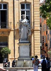 DSC_3861 Le Roi René (laurentbourg07) Tags: aix roi rené statue fontaine