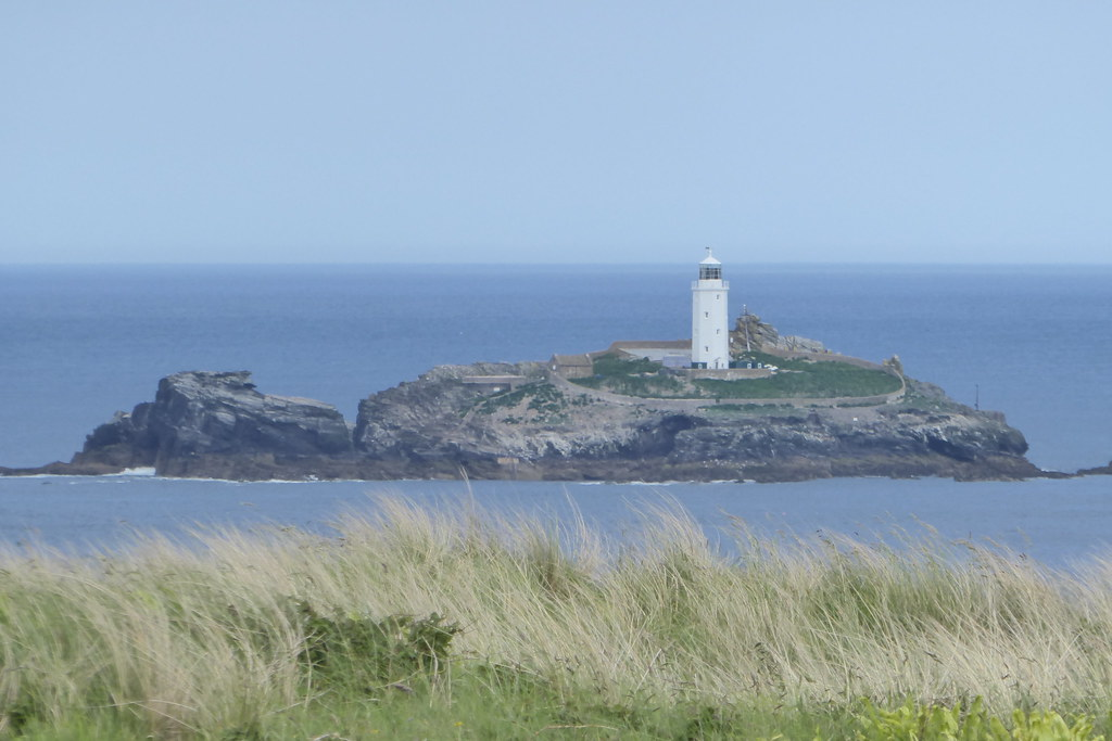 Godrevy lighthouse from Gwithian Towans