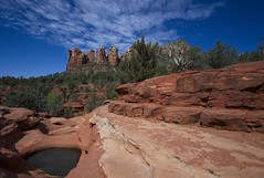 The Sacred pools of Soldiers Pass (Coisroux) Tags: sedona soldierspass arizona verdevalley nikond850 d850 rockformations landscapes skyline clouds desert peaks formations
