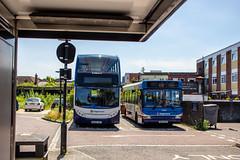 Waiting on stand (mangopearuk) Tags: uk unitedkingdom england hampshire bus buses publictransport transit stagecoach stagecoachsouth stagecoachinthesouthdowns stagecoachhampshire portsmouth southsea havant adl alexanderdennis