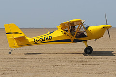G-OJSD (QSY on-route) Tags: gojsd lancashire landing 2018 fly in knott end beach airfield 09062018