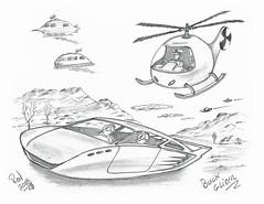Buick Glider (rod1691) Tags: myart art sketchbook bw scfi grey concept custom car retro space hotrod drawing pencil h2 hb original story fantasy funny tale automotive illustration greyscale moonpies sketch sexy