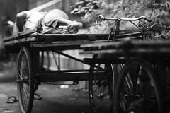 Depth Of Feet (N A Y E E M) Tags: man rickshawvan sleep rest afternoon ramadan street norahmedroad chittagong bangladesh carwindow