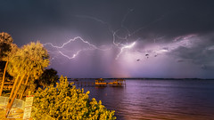 Lightning over the Indian River (Michael Seeley) Tags: canon indianriver indianriverlagoon lightning mikeseeley storm stormchasing thunderstorm