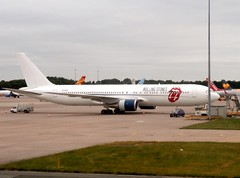 The Rolling Stones' Boeing 767 (MJ_100) Tags: aviation aircraft airplane aeroplane boeing 767 therollingstones rolling stoneszsnexplanemanchester airport airliner jet