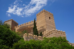 Alcazaba castle walls, Almeria, Spain (mattk1979) Tags: almeria sun outdoors city spain europe old historic arab moorish fortress alcazaba sky clouds