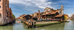 Workshop in which gondolas are made (Magda Banach) Tags: canal canoneos5dmarkiv italy squerodisantrovaso wenecja architecture blue bluesky building buildings city clouds colors outdoor outside venice view water venezia veneto it