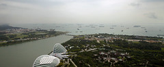 So many ships (Magryciak) Tags: singapore asia 2018 travel trip holiday view panorama cityscape city urban baysands viewpoint ship water bay ocean sea blue colour sky overcast cloud canon eos
