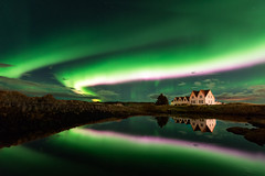 Right place, right time (KasparsDz) Tags: iceland straumur reykjavik house night aurora northern lights aruroa borealis green stars landscape nature travel dzenis photo