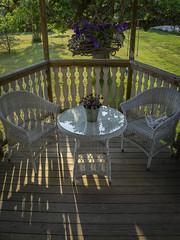 porch garden in Sweden