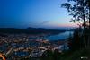 Bergen by night - 1 (auréliemaupilé) Tags: nuit night city light sunset sun nature bergen norway mountain ocean lightcity nightphotography