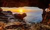 The Golden Moment (George Plakides) Tags: sunrise ayioianargyroi cave capegreco kavogreko sea golden