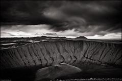 Hverfjall IV (niggyl (well behind)) Tags: northiceland norðausturland iceland ísland inspiredbyiceland island cloudporn icelandiclandscape fujinon breathtakinglandscapes luminar2018 landscape cloudsstormssunsetssunrises fujifilm fujifilmxt2 fujixt2 xt2 blackandwhite monochrome blackandwhitelandscape bandw mono lowkeyblackandwhite hverfjall mývatn lakemývatn therebeastormabrewin fujinonxf2314r fujixf2314r xf2314