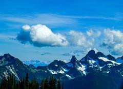 Emmons Vista (Beangrau12) Tags: clouds mountains washingtonstate emmonsvista mountrainiernationalpark landscape snow grass mountain sky tree