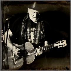 Portrait:  Willie Nelson (maj488/mike) Tags: alpharetta atlan amphitheater arena state texas austin blueeyescryingintherain redheadedstranger years 85 tour martin trigger guitar marijuana weed nelson willie